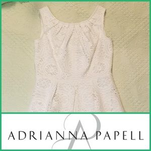 Adrianna Papell Lace Cocktail Dress Medallion